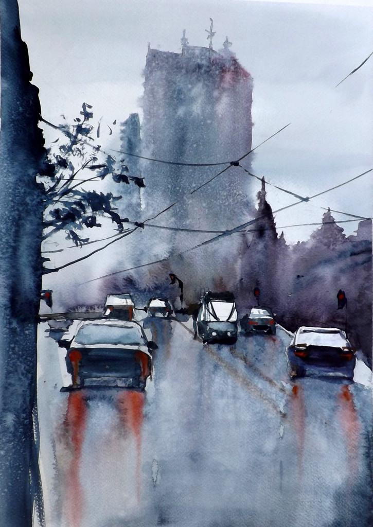 watercolour, zbukvic, akwarela, domin poznan, painting, kurs rysunku