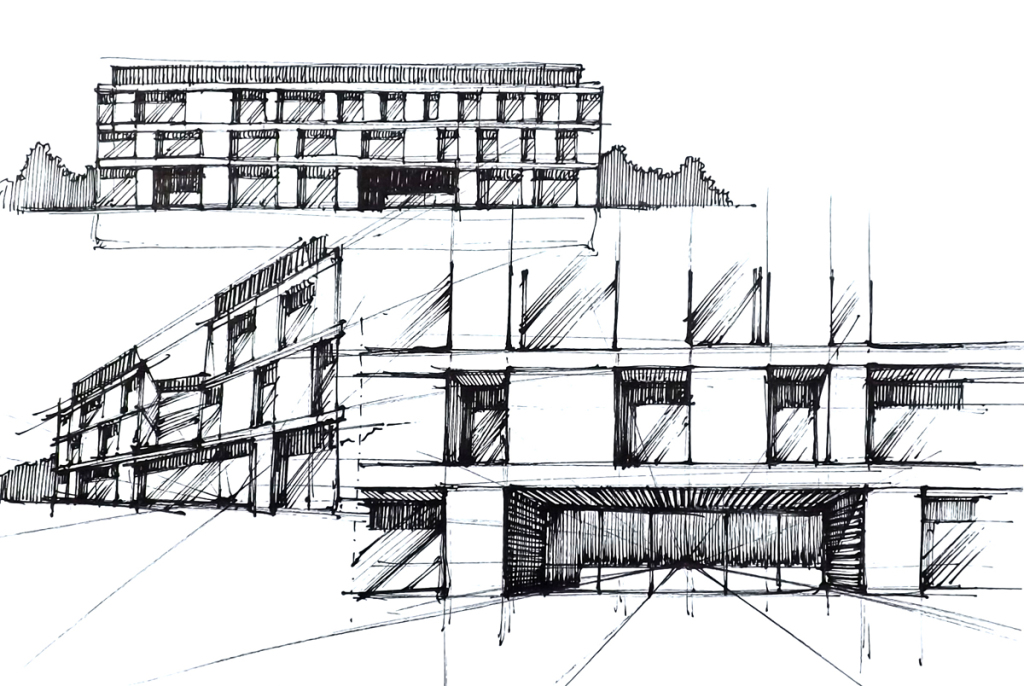 Architecture faculty building - project ,design, interior, architectural concept, sketches