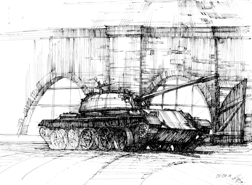Tank, Cytadela, Poznan, military, drawing, rysunek, pojazdy