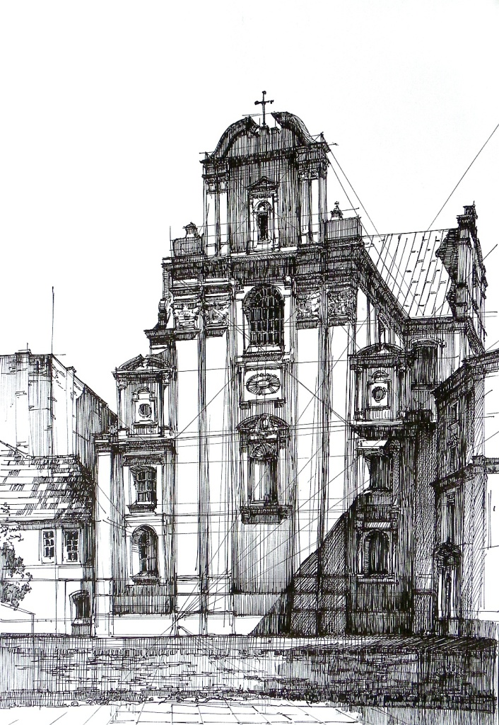 Architecture, drawing, baroque, poznan, poland, rysunek, architektura