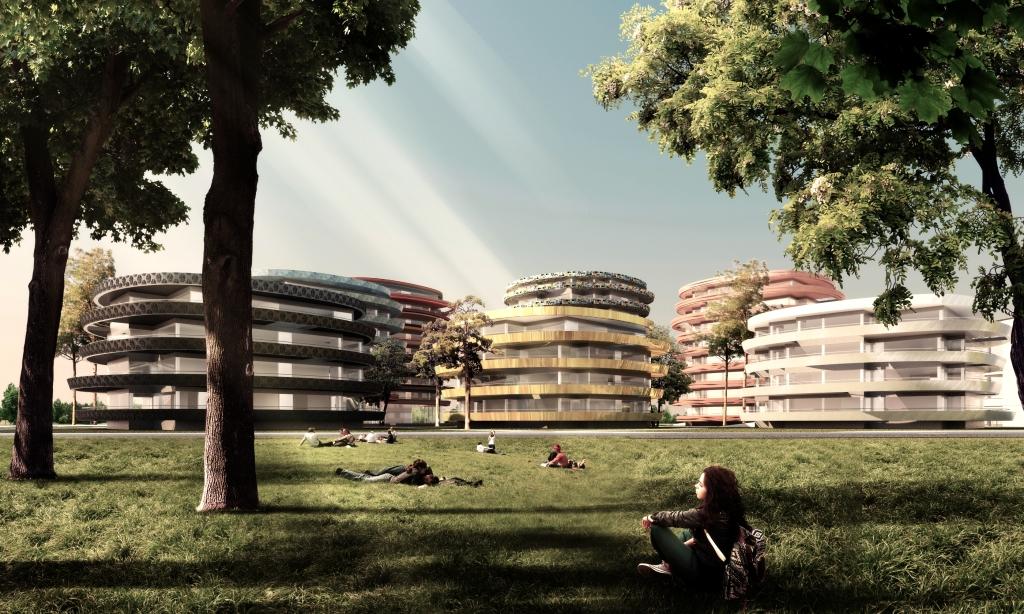 Viertel Zwei Plus, Austria, Vienna , Wiedeń, Competition, Thomas Pucher, Visualizations, Architecture