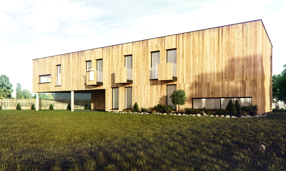 Exterior Visualizations of House in Pyskowice by Medusagroup. Architecture, Poland, Architects