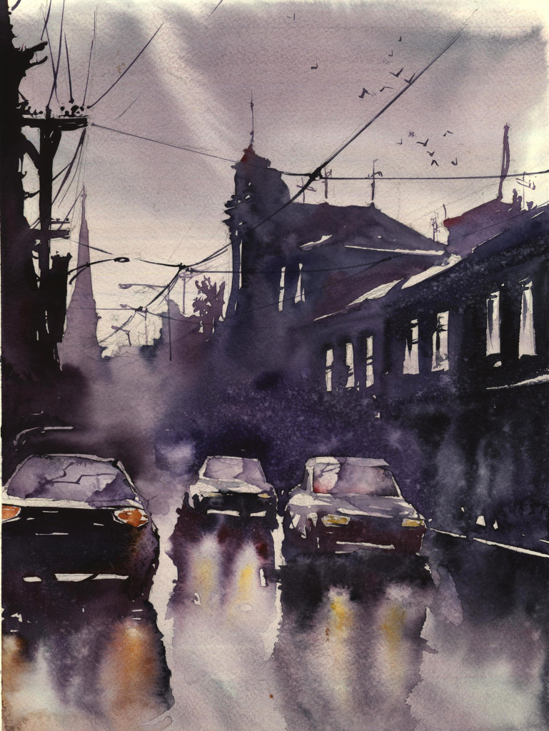 zbukvic, watercolour, painting, akwarela, architecture,