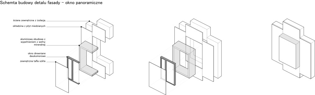 detail, window, axonometry, section, 3d section
