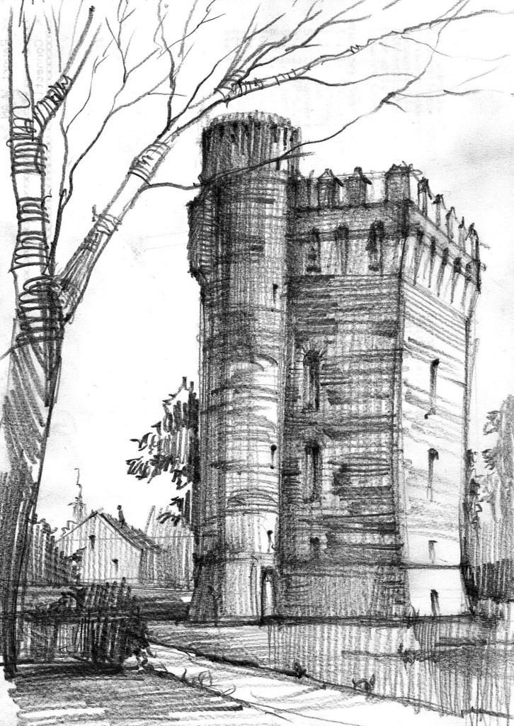 Architecture history sketch study