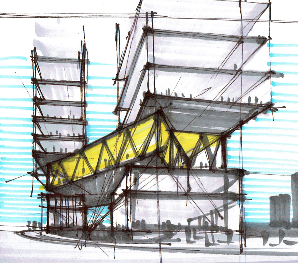 Architecture concept sketch design