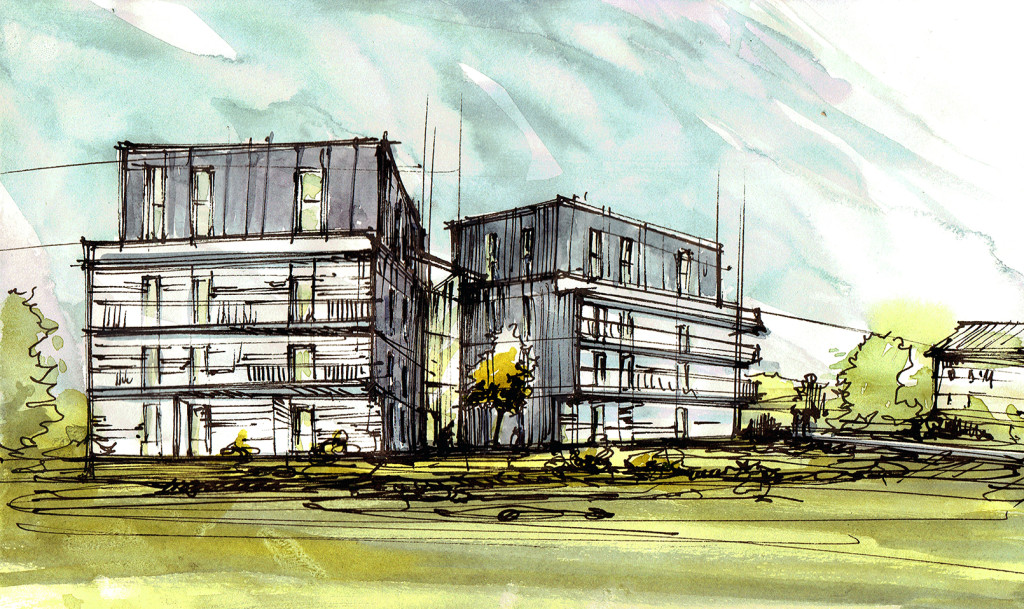 Architecture concept sketch design