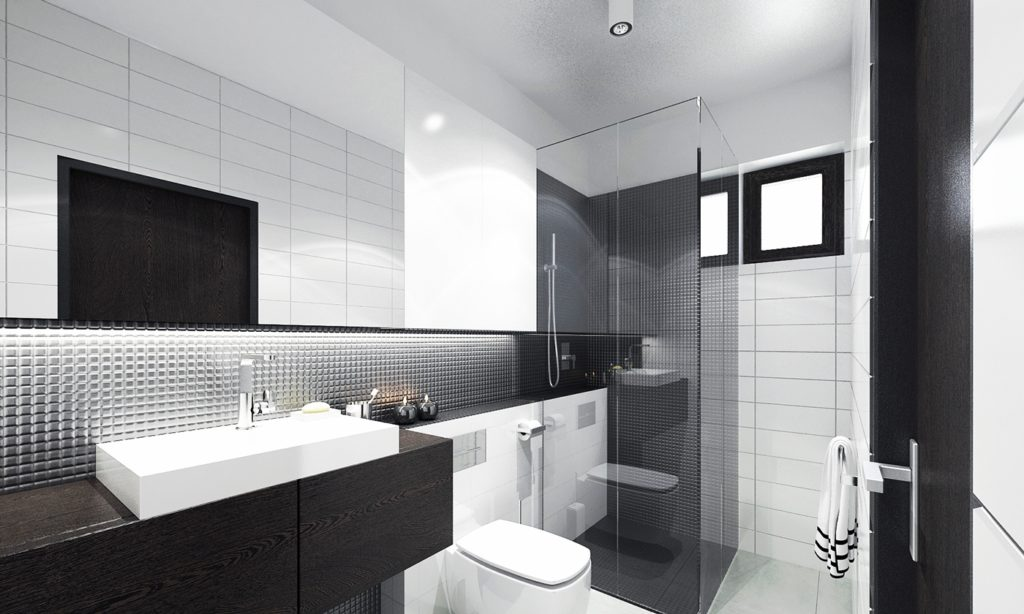 Single family house interior visualization - bathroom.
